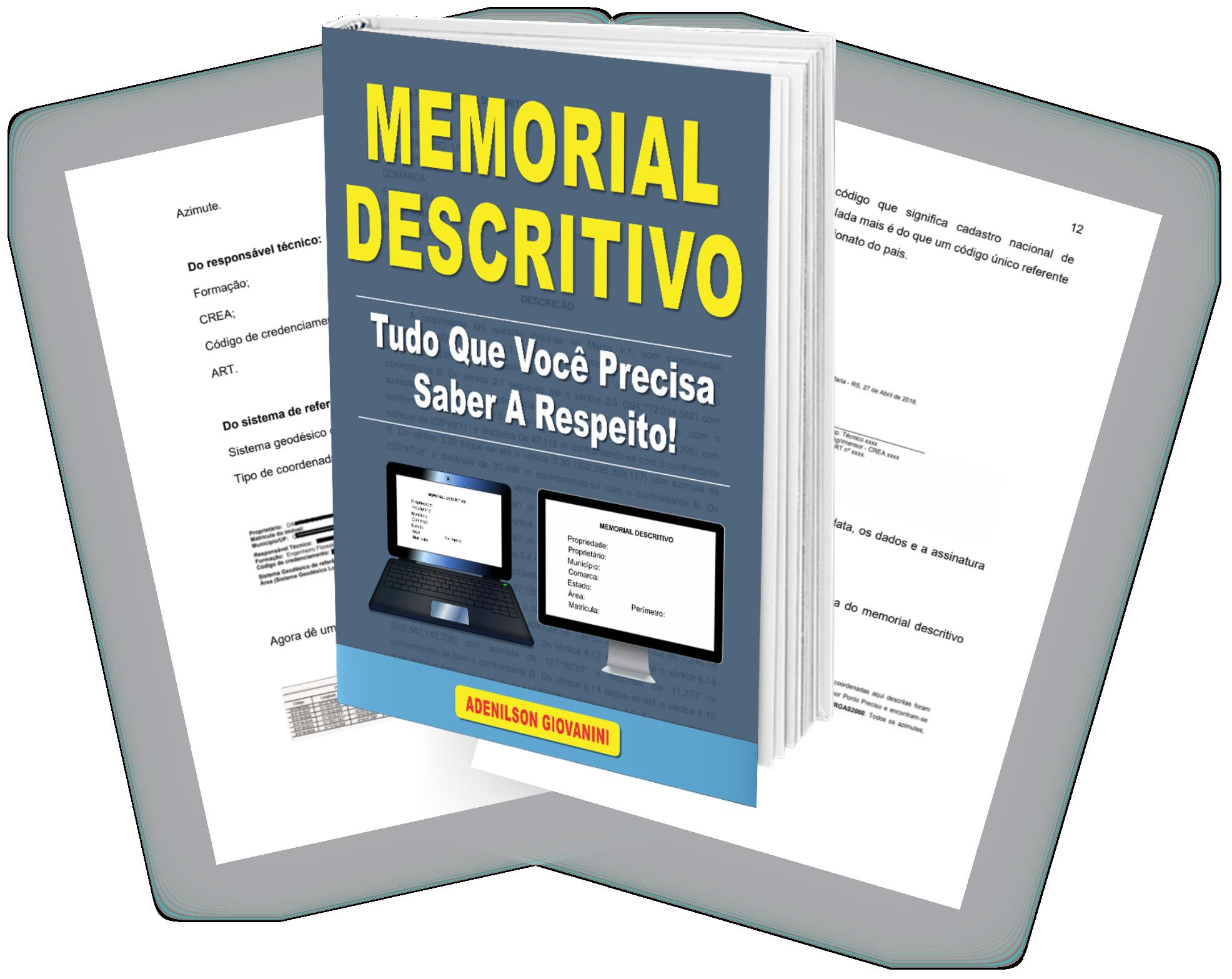 livro memorial descritivo topografia
